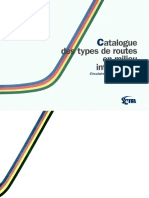 Catalogue Des Types de Routes en Milieu Interurbain