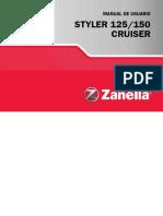 Zanella 150 Styler-Manual de Usuario