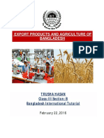 Export Products and Agriculture