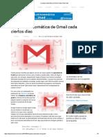 Limpieza Automática de Gmail Cada Ciertos Días