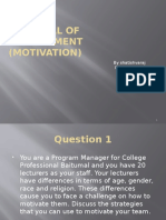 Principal of Management Presentation (Motivation)