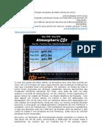 A concentração de gases de efeito estufa em 2016