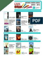 Novedades en Las Bibliotecas municipales de Huesca, en junio de 2016