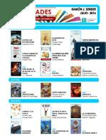 Novedades en Las Bibliotecas municipales de Huesca, en julio de 2016