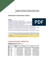 Importações e Exportaçõe Petroleo Barris
