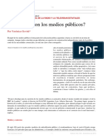 Verónica Ocvirk. ¿Qué Hacer Con Los Medios Públicos. EL Dipló. Edición Nro 198. Diciembre de 2015
