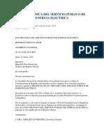 Ley Organica Servicio Publico Energia Electrica