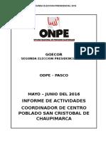 Informe Final San Cristobal de Chaupimarca