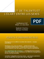Nadereh Chamlou LE DÉFICIT DE TALENTS ET L'ÉCART ENTRE LES SEXES Francais