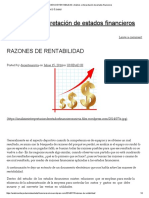 RAZONES de RENTABILIDAD _ Análisis e Interpretación de Estados Financieros