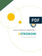 Latihan soal olimpiade astronomi SMA DY