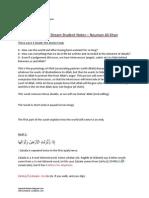 Surah Zalzala - Dream Tafseer Notes - Nouman Ali Khan