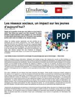 Les Réseaux Sociaux, Un Impact Sur Les Jeunes D_aujourd_hui