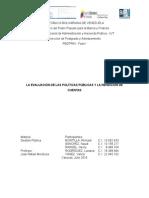La Evaluación de Las Políticas Públicas y La Rendición de Cuentas