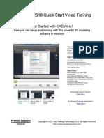 CADWorx 2016 Quick Start Lesson Guide R2