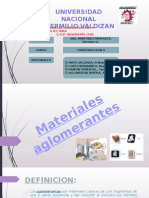 Materiales-aglomerantes