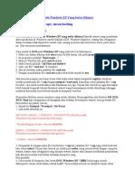 Cara Masuk Ke DOS Pada Windows XP Yang Serba Dikunci by oget_sincan