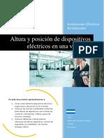 Altura y Posicion de Dispositivos Electricos en Una Vivienda