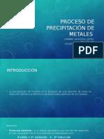 Proceso de Precipitación de Metales