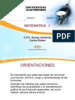 I Unidad Funciones Semana 1.Pps