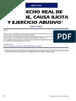 CARLOS ALBERTO GHERSI - O Direito Real de Superfície, Causa Ilícita e Exercício Abusivo
