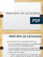 Criminologia - Principio de Legalidad