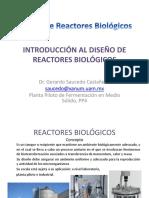 Introducción al diseño de reactores biologicos
