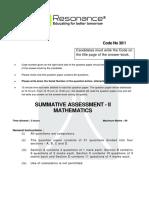 Class 10 CBSE 2016 Maths Paper