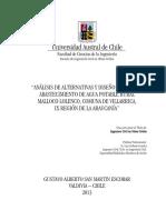 Analisis Alternativas Diseño Sistema Abastecimiento Rural Chile