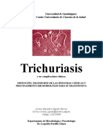 Trichuriasis y sus complicaciones clínicas.