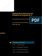 Planificando Un Portafolio de Proyectos de IT