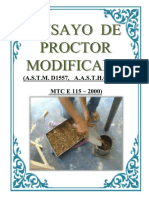 Ensayo Proctor Modificado