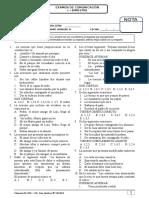 Examen i Bimestre Tercero