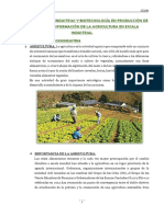Agricultura Agroindustria y Biotecnologia Para La Produccion de Insumos y Transformacion a Escala Industrial