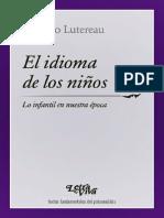 El idioma de los niños [Luciano Lutereau]