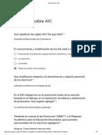 Encuesta Sobre AIC Respuesta