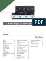 Tc Electronic Alter Ego x4 Vintage Echo Manual Spanish