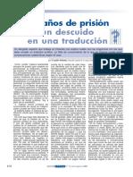 Siete Años de Prisión Por Error en Traducción Legal