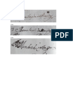 Diferença Cronológica Nas Assinaturas de Antônia Josefa de Almeida