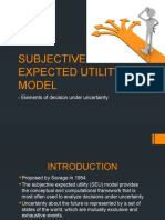 Subjective Expected Utility Model