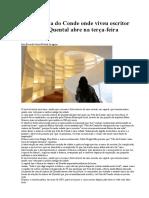 Casa de Vila Do Conde Onde Viveu Escritor Antero de Quental Abre Na Terça Feira - JN