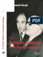 Mzali Un Premier Ministre de Bourguiba Temoigne