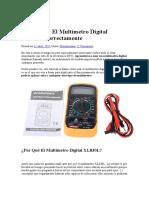 Multimetro Digital Xl830l