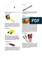 Carpentry Tools and Equipment