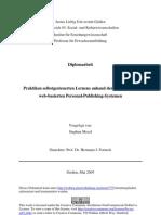 Praktiken selbstgesteuerten Lernens anhand der Nutzung von webbasierten Personal-Publishing-Systemen