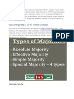 Types of Majority