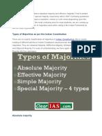 Types of Majority