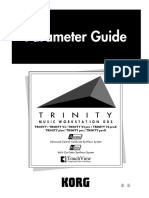 1a Korg Trinity Manual - Parameter Guide Book - With MIDI Implementation