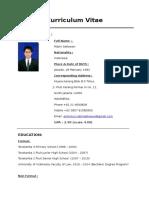 Curriculum Vitae Robin Setiawan Updated