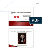 Types considered Harmful